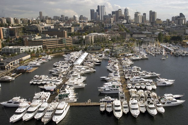 Seattle Boat Show at Lake Union
