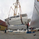 Off loading of Beneteau Yachts